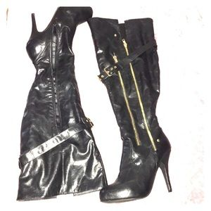 Over the knee heel boots